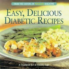 Easy, Delicious Diabetic Recipes: A Cookbook for a Healthy Life-ExLibrary