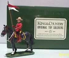 KING & COUNTRY ROYAL CANADIAN MOUNTED POLICE RC02G MOUNTED HOLDING BANNER EXIB