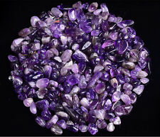 100g NATURAL TUMBLED AMETHYST CHIP STONE WHOSALE ALTAR OFFERING RIKI HEALING