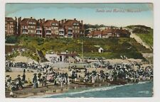 Dorset postcard - Sands and Marina, Boscombe - P/U 1917