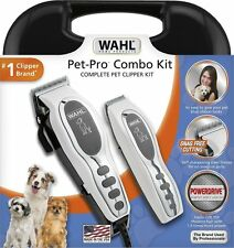 NIB! Wahl PRO Pet Hair Clippers Trimmer Combo Kit Machine Dog Grooming Animal