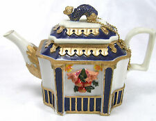 Tiny Oriental Teapot Trinket Box with Fish Handle