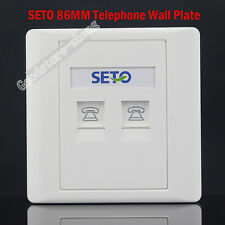 SETO Wall Socket Double Port Socket RJ11 Telephone Modular Jack Panel Faceplate