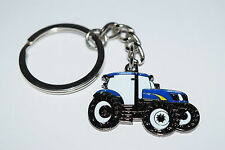 New Holland/Ford Blue Tractor Keyring Farming Gift Collectable Enamel Chain