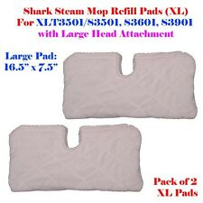 2 XL Large Steam Mop Replacement Pocket Pads For Shark S3501 XLT3501 S3601 S3901