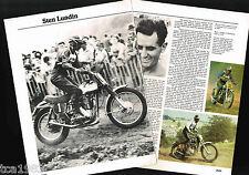 Old STEN LUNDIN MOTORCYCLE Racing Article/Pictures: LITO