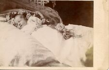 Cabinet card postmortem of sweet baby girl, Battle Creek Mi. Altman & Edelman