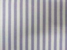 Ticking Stripe Cotton Lavender Lilac Designer Curtain Upholstery Fabric