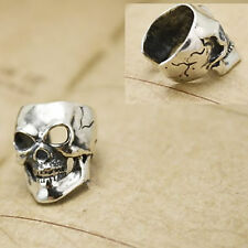 2pcs Ear Clips Earrings Skull Vintage Silver Clip-On Cuffs Stud Fine Jewelry 19#