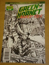 GREEN HORNET BLOOD TIES #1 RI BLACK WHITE AND GREEN COVER 2010 DYNAMITE