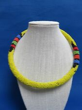 New Item! Maasai Kenya African Jewelry Ethnic FAIR TRADE BEADED ROPE NECKLACE L