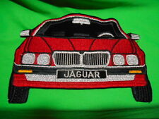 "large 8"" Red-Black-Silver JAGUAR Car Embroidery Sew On Applique Patch"