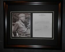 General George Patton World War II Signed Letter & Photo Framed
