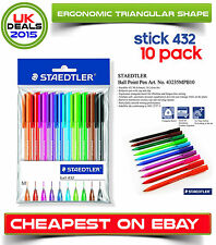 Staedtler Ball 432 Rainbow Ballpoint Pens Multicolour Pens Set Of 10 Assorted
