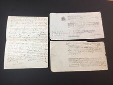 RARE Manuscript Document LOT 1829 SNOW  Family SCHOONER Maria Thomaston Maine ME