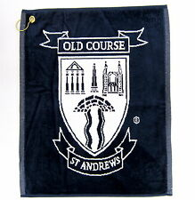 "St Andrews Old Course Heraldic Golf Towel in Navy ""NEW"""