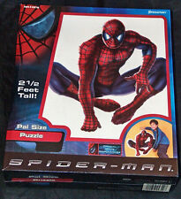 NEW SEALED PRESSMAN 2002 SPIDER MAN MARVEL MOVIE PAL SIZE 2 1/2 FEET PUZZLE NIB