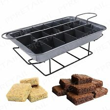 Easy Bake Cake Tray & Slicer +PROFESSIONAL+ Baking Brownie Individual Slices