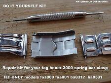 CLASP REPAIR KIT FIT TAG HEUER 2000 FULLISZE CLASP BA0317 ba0331 FAA0001 FAA000