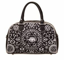 BANNED BLACK OCCULT OUIJA BOARD HANDBAG BAG WITCHCRAFT GOTH BIKER DARK ARTS NEW