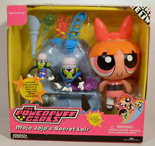2002 Blossom & Mojo Jojo Secret Lair Action Figure Playset Powerpuff Girls
