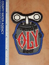 VINTAGE POWERED BY OLY BEER EMBROIDERED PATCH   KEG    NOS