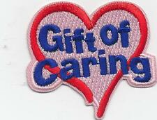 Girl Boy Cub GIFT OF CARING donation Fun Patches Crests Badges SCOUT GUIDE
