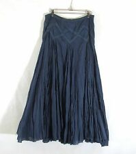 KAS DESIGNS Boho Gypsy Peasant Skirt Womans Small Crinkle Full Layered Cotton