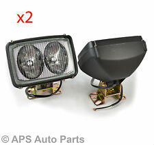 Pair Tractor Lorry Boat Digger Machine Trailer 12v 24v Square Truck Work Light