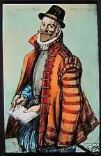 Glass Magic Lantern Slide SIR JAMES MELVILLE C1890 SCOTTISH DIPLOMAT TUDOR