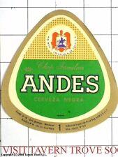 Argentina De Cuyo Mendoza Andes Negra 1 Litro Beer Label Tavern Trove