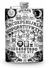Ouija Board Flask 8oz Silver Metal Whiskey Vodka Drinking Flasks Liquor Spirits