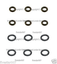 6 Lower +6 Upper 12 O-Rings kit Fuel Injector Nozzle Rubber Seal Set for BMW