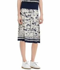 $450 NWT TORY BURCH SILK NEW IVORY FRENESI A KNEE LENGTH SKIRT SZ 4