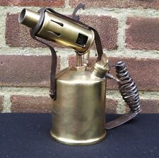 Vintage Rare Radius 52 Brass Blow Torch Made In Sweden Steampunk Man Cave