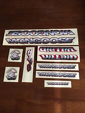 Nos Old School Mongoose Bmx Villain Decal Set Sticker Kit Complete New Vintage