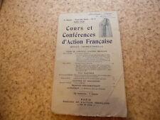 1926.Cours d'Action Française.Naissance de Mireille.Mistral.Marius André
