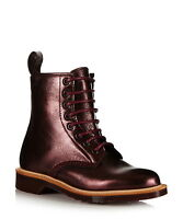 RRP £285 Dr. Martens MADE IN ENGLAND Women's cherry red boots Shoes Size 3 7