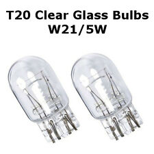 2 x T20 W21/5W 7443 580 DRL/Indicator/Stop Brake/Tail Light Clear Glass Bulbs