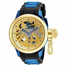 Invicta Russian Diver Mechanical Black Polyurethane Mens Watch 17269