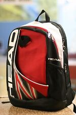 HEAD Racquetball Backpack Bag, White, Black, Red