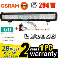 "OSRAM 5D 294W 20""INCH LED LIGHT BAR COMBO OFFROAD PICKUP DRIVING 4X4WD CAR TRUCK"