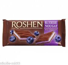 «ROSHEN» Milk chocolate with blueberry nougat 90g / Молочный с черничной нугой