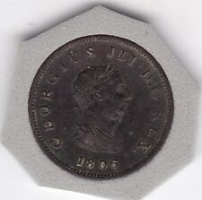 1806   King  George  III   Half   Penny  (1/2d)  Copper  Coin