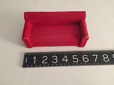 VINTAGE GERMAN WOOD DOLL HOUSE LIVING ROOM COUCH c1950's- 60's. st madeGermany