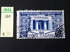 REGNO 1922 MAZZINI CENT. 80 USATO