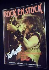 ROCK EN STOCK N° 10-TED NUGENT-FLAMIN GROOVIES-PAT TRAVERS-HAWKWIND-KISS-MANSET-