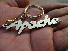 Apache Bike Keychain handcarved Personalized gift Golden Color Design Key Chain