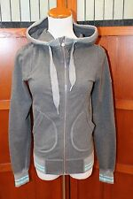 Lululemon Gray Hoodie Hooded Zip Front Jacket Coat 4 Small