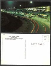 Old Illinois Postcard - Chicago - O'Hare Airport Terminal at Night